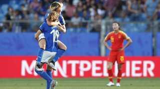 Italien scorer mod Kina i 1/8-finalen