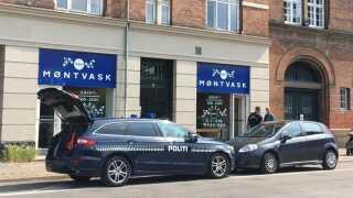 Politiet ransagede onsdag en række adresser i København i forbindelse med efterforskningen af et internationalt narkonetværk. Foto: DR Nyheder.