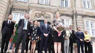 Mette Frederiksen præsenterede sidst på formiddagen sin regering.