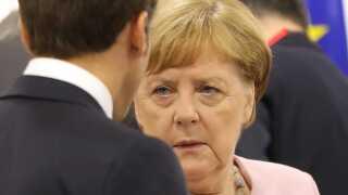 Den tyske kansler, Angela Merkel, nævnte ikke Margrethe Vestager, da hun nævnte kandidaterne til posten som EU-kommissionsformand i Osaka i Japan i dag.