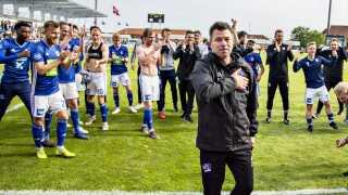 Det er første gang, Christian Nielsen skal være cheftræner for en Superligaklub. Han havde stået i spidsen i et halvt år, da klubben rykkede op.