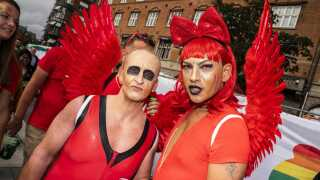 Deltagere i Copenhagen Pride Parade 2019.