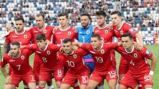 Gibraltars fodboldlandshold forud for seneste landskamp.