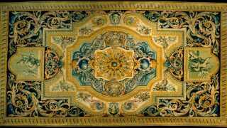 Et tæppe lavet på de franske Savonnerie-fabrikker i 1600-tallet til den franske konge i stil med det på billedet her har været omdrejningspunkt for en stor familiestrid.