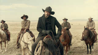 Ralph Ineson spiller 'manden i sort' i den nye Netflix-film 'The Ballad of Buster Scruggs'.