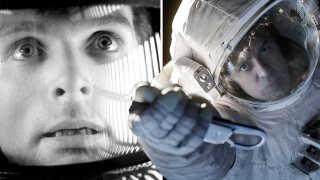 Keir Dullea og George Clooney har haft hovedrollerne i nogle af de mange film om rumrejser - her i henholdsvis 'Rumrejsen år 2001' og 'Gravity'.