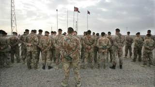 Danske soldater i Camp Danevang i Irak i 2005.