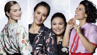 Grand Prix-ekspert Morten Madsen tror, at Leonora (tv.), Julie & Nina og Jasmin Gabay (th.) er de bedste bud på en Grand Prix-vinder i år.