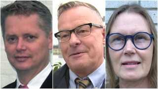 Mogens Birkelund (t.v.), Martin Nordstjerne Rasmussen (midten) og Anette Prang (t.h.) er blandt de nye navne på Klaus Riskær Pedersens liste over kandidater.