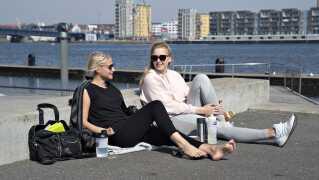 For et år siden så der sådan ud på Havnefronten i Aalborg - der er gode muligheder for en gentagelse i påsken i år.