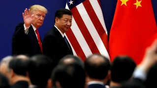 Præsident Trump og præsident Xi Jinping kæmper en kamp, der rammer verdensøkonomien (Arkivfoto).