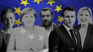 Der er meget på spil for både den tyske kansler, Angela Merkel, og Frankrigs præsident, Emmanuel Macron, ved EP-valget.