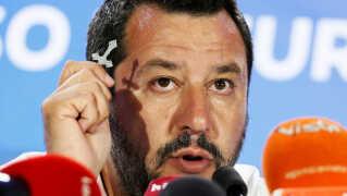 Leder af det indvandrerkritiske regeringsparti Lega i italien, Matteo Salvini, har leveret det største europæiske resultat ved valget i aftes.