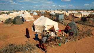 Flygtningelejr i Dadaab, Kenya.