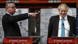 Michael Gove (tv) og Boris Johnson er med i kampen om at blive Storbritanniens næste premierminister (Arkivfoto).