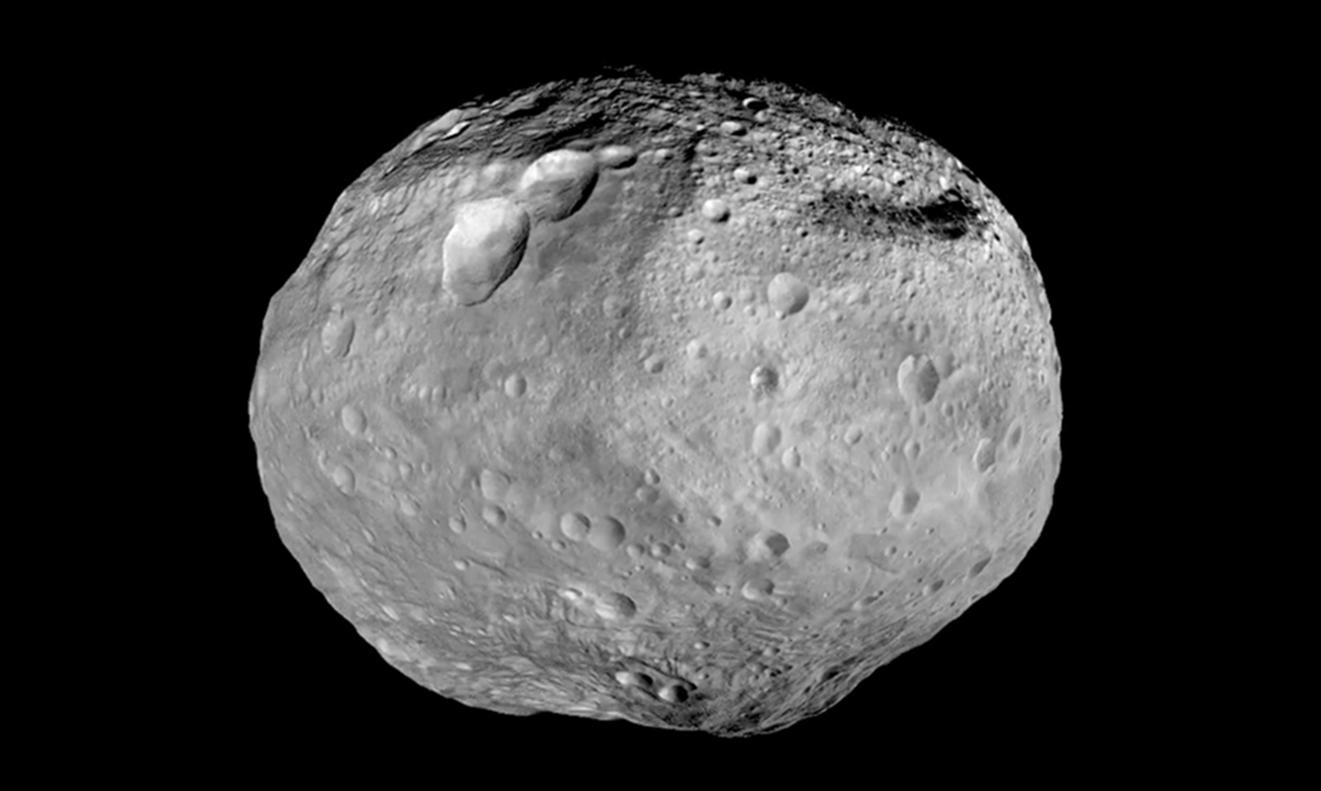 Billede af en asteroide fra Nasa. Dette er ikke asteroiden 2000 QW7.