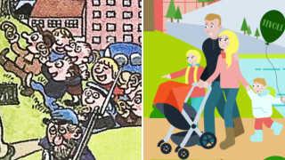 I 1992 ser man en flok arbejderklassebørn uden voksenopsyn. I 2018 er de udskiftet med middelklassens kernefamilieidyl.