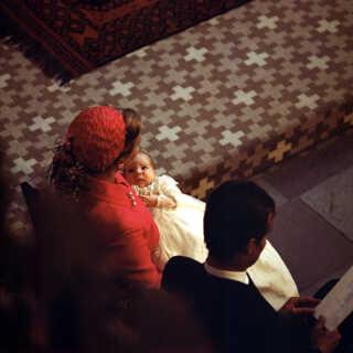 Kun fem uger gammel blev prinsen døbt i Aarhus Domkirke i 1969. Her fik han navnene Joachim Holger Waldemar Christian.