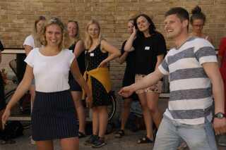 Til det første Lemvig-event i Aarhus var der blandt andet gang i ryste-sammen-lege.
