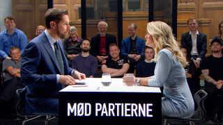 I løbet af valgkampen var alle 13 partiledere i studiet hos Kåre Quist i 'Mød partierne'. Her er det Nye Borgerliges Pernille Vermund.