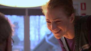 Aleksandra Noske-Nowicka er glad for at arbejde med mennesker og nyder sin praktiktid som social- og sundhedsassistent.