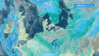 Højtrykket syd for Danmark sikrer os en solrig, tør og kold slutning på ugen.