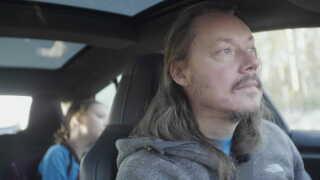 Greta og Svante Thunberg på vej hjem fra COP24 i Polen.