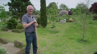 På Vester Hassing Kirkegård er der langt flere tomme pladser, end der var engang, fortæller graver Leif Christensen.