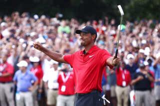 Tiger Woods var emotionelt påvirket efter sejren ved TOUR Championship.