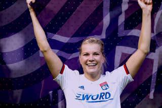 Ada Hegerberg er en af Norges allerstørste sportsstjerner.  Grafik: Vibeke Kjær Lund