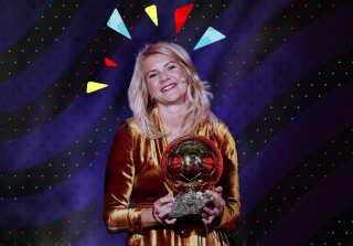 Ada Hegerberg vandt prisen som verdens bedste spiller foran danske Pernille Harder.