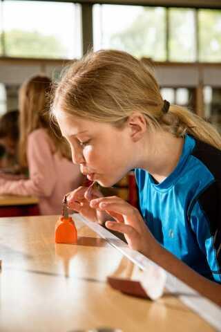 Elev fra Vinderslev Skole i Kjellerup ved Silkeborg.