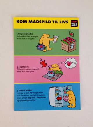 Journalisten på denne artikel stødte i 2008 på det her gratis postkort - Go-Card - hvor Selina Juul netop havde stiftet Stop Spild af Mad.