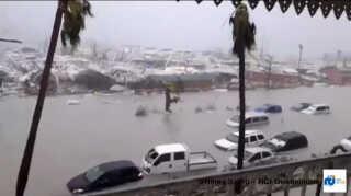Store dele af øen St. Martin er smadret efter orkanen Irma gik i land.