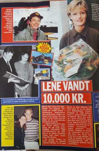 Lene Braa Mikkelsen fra Esbjerg tog et billede af Kronprins Frederik, da hun mødte ham på en skiferie. Hun indsendte billedet til Billedbladet og vandt 10.000 kroner i en fotokonkurrence.