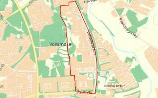 I området inden for den røde streg vil der være skærpet strafzone fra i aften klokken 18 til 6. februar klokken 12.