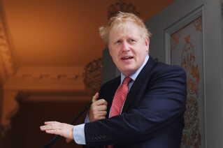 Boris Johnson bor i øjeblikket i sin kærestes lejlighed i London.
