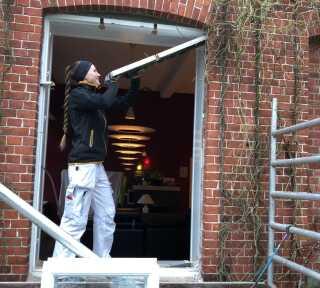 Sandra Jørgensen har nu arbejdet i sit drømmejob som tømrer i fire år.