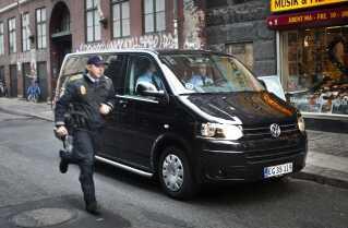 Retssag mod Amagermanden.  Her køres han væk fra retten tilbage i 2011.