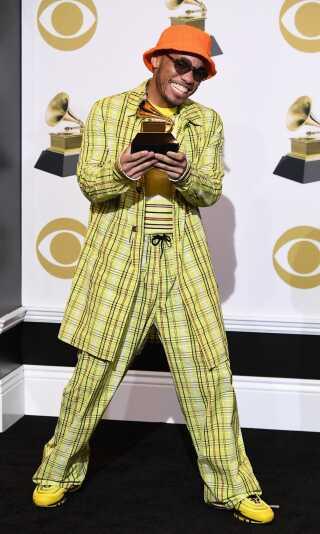 Sangeren Anderson .Paak vandt en Grammy for 'Bedste rap-optræden', men måtte dele sejren med Kendrick Lamar, der også vandt samme kategori - prisen blev nemlig uafgjort.