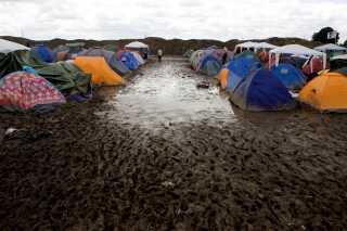 På Roskilde Festival 2007 faldt der omkring 46 mm regn.