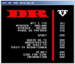 Sådan så tekst-tv ud i 1983.