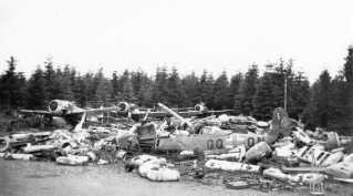 Ved befrielsen af Danmark i maj 1945 var der en større mængde tyske fly på dansk område. De blev efterfølgende ødelagt af de britiske styrker i Danmark.