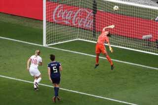 Ellen White scorede 2-0-målet for England.