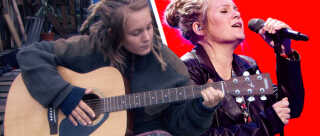 Lucy Mardou i Thylejren og på scenen i X Factor.