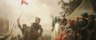 Sagnet om det himmelfaldne flag i Estland er blandt de bedst kendte nationalfortællinger i den danske historieskrivning.