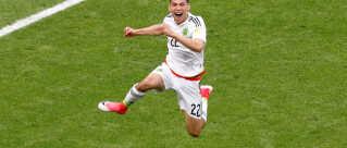 Mexicos Hirving Lozano scorede i sidste års Confeterations Cup i Rusland. Ved VM står verdens agenter på lur.