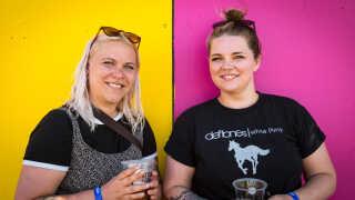 Tina Kruse (til højre) glæder sig mest til at høre A Perfect Circle, mens veninden Tania Rasmussen er vild med, at det libanesiske band Mashrou' Leila spiller på Northside.