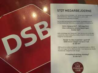 Her et opslag fra medarbejderne i DSB.