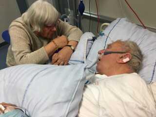 Torkild Birk Jensen, da han havde fået en hjerneblødning, og familien og lægen i samråd opgav yderligere behandling